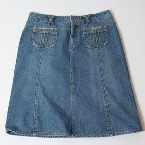 Banana Republic Denim Skirt Pockets 8 Jean